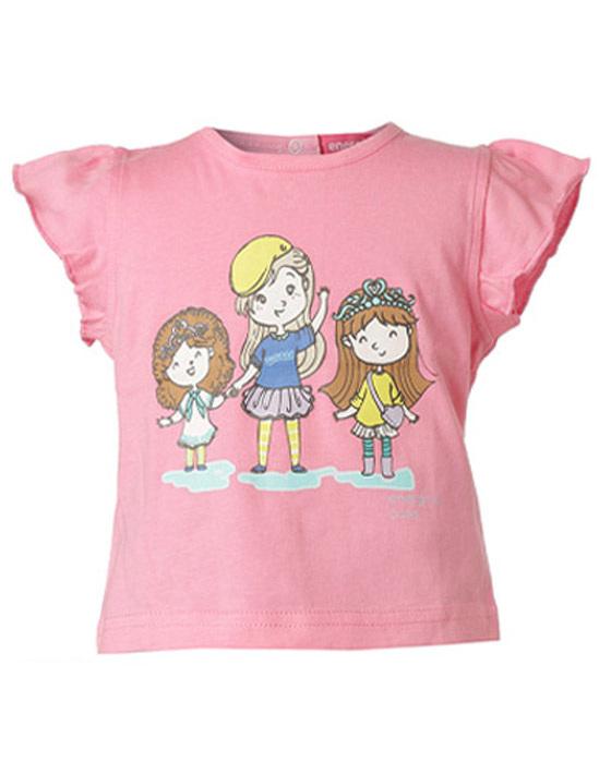08691179dfd Μπλούζα με τύπωμα κορίτσια   ΝΕΟΝ ΡΟΖ   Energiers