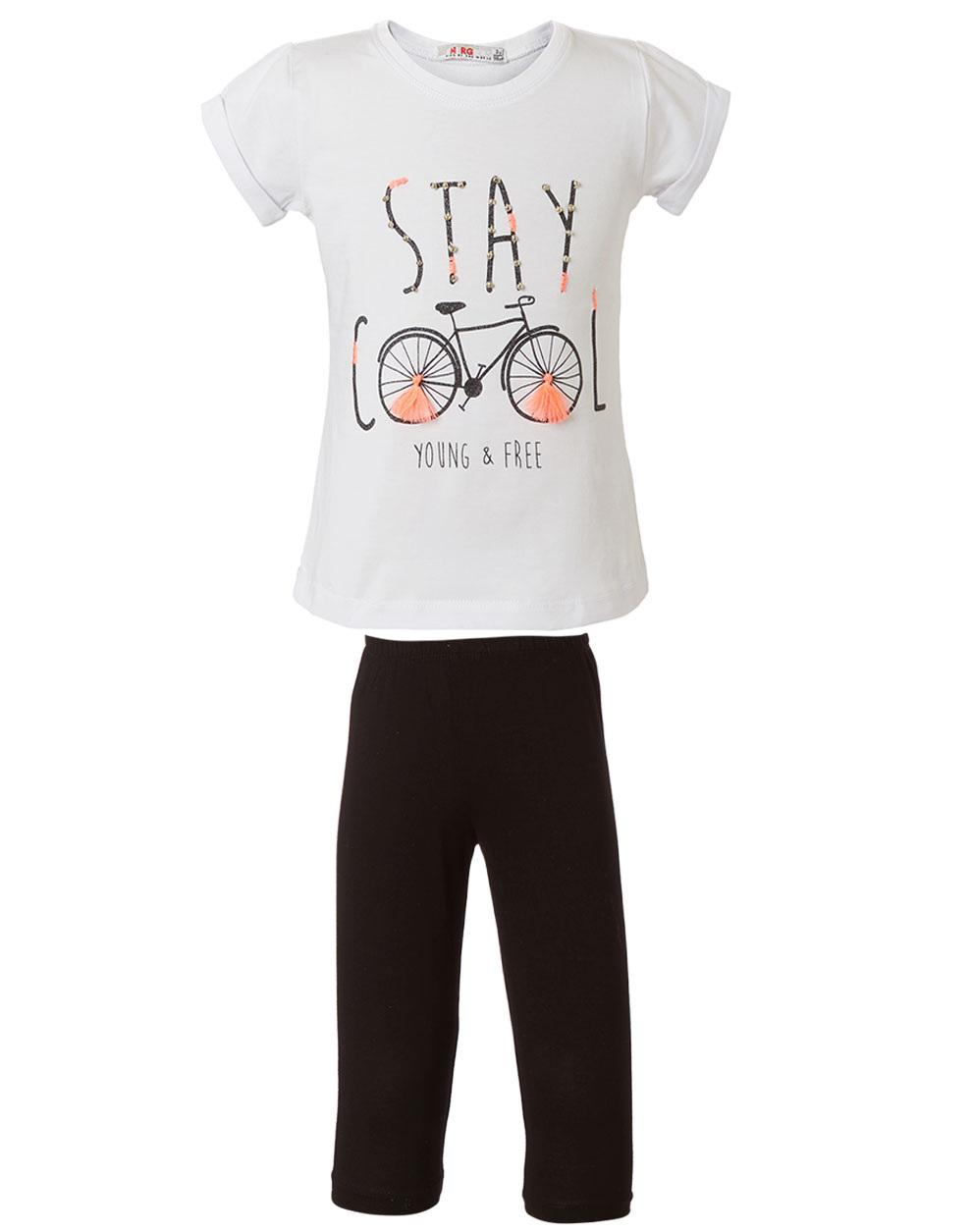 c0db764200a Σετ κολάν και μπλούζα με τύπωμα | ΜΑΥΡΟ | Energiers