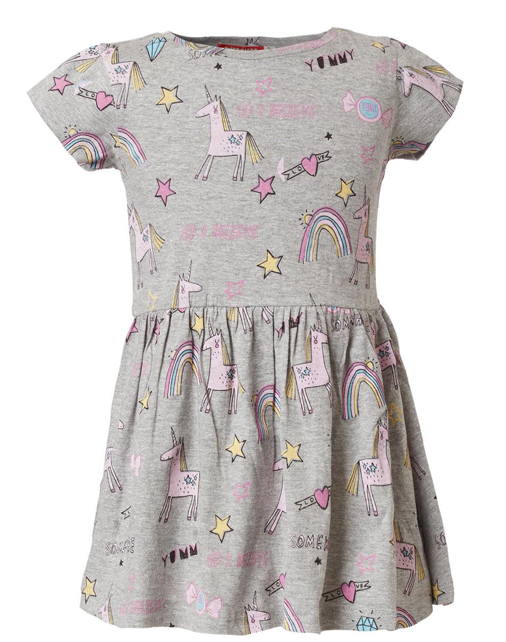 c5acdd4619a4 Φόρεμα μακώ τύπωμα μονόκερος