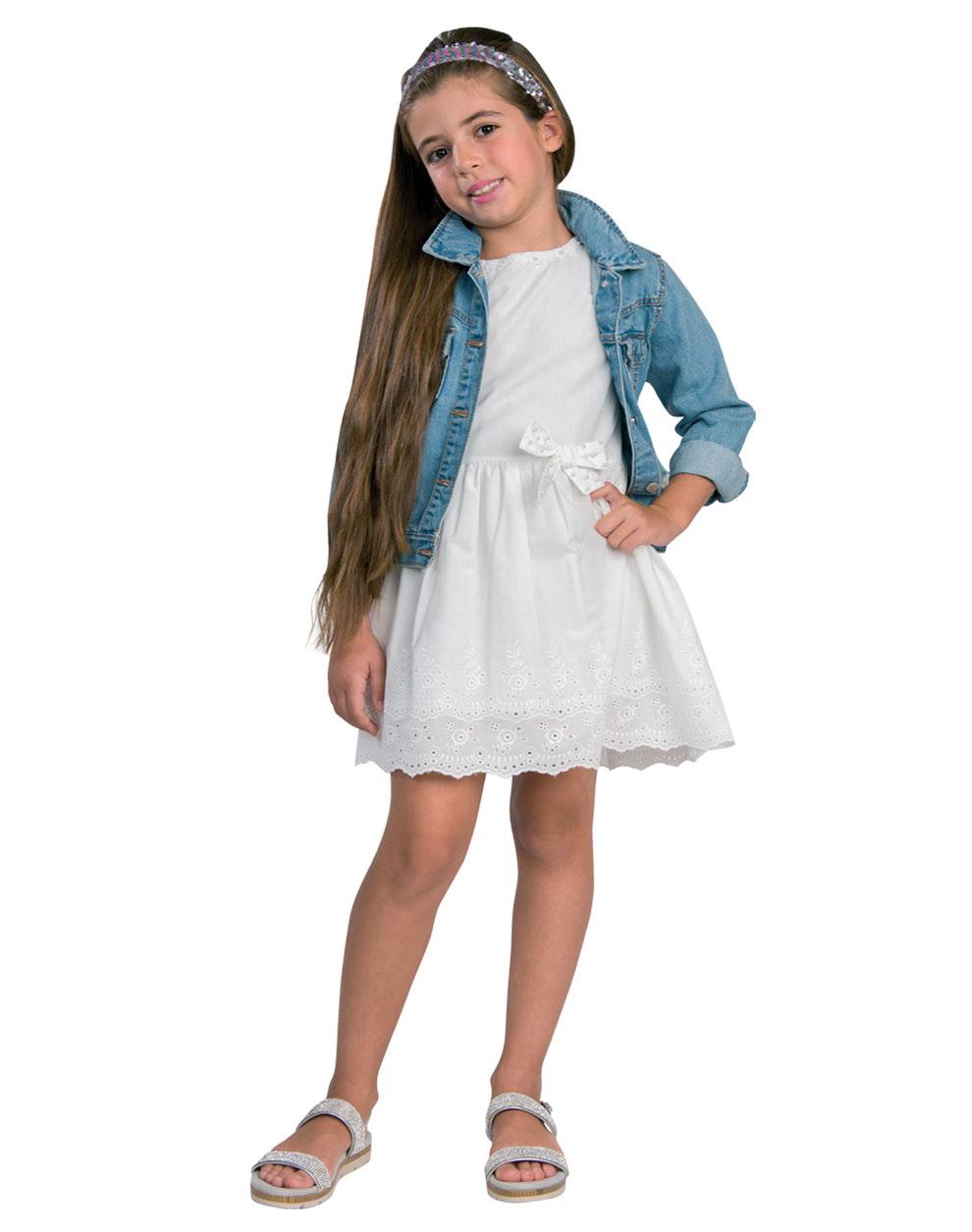 5ab36d176cf0 Φόρεμα με δαντέλα μπροντερί